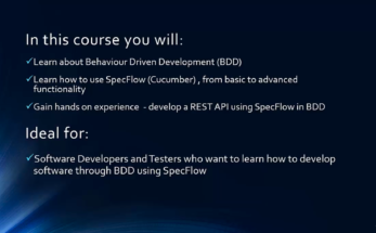 BDD in C# - using Specflow (Cucumber) to develop a REST API and automate software testing