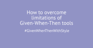 Given-When-Then beyond features