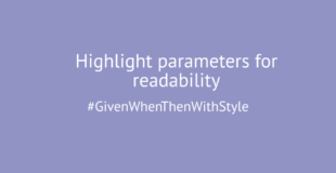 Highlight parameters for readability