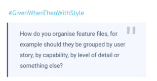 How to organise feature files?
